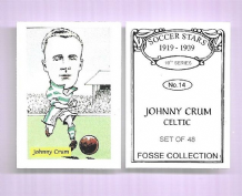 Glasgow Celtic Johnny Crum Scotland 14 (FC)